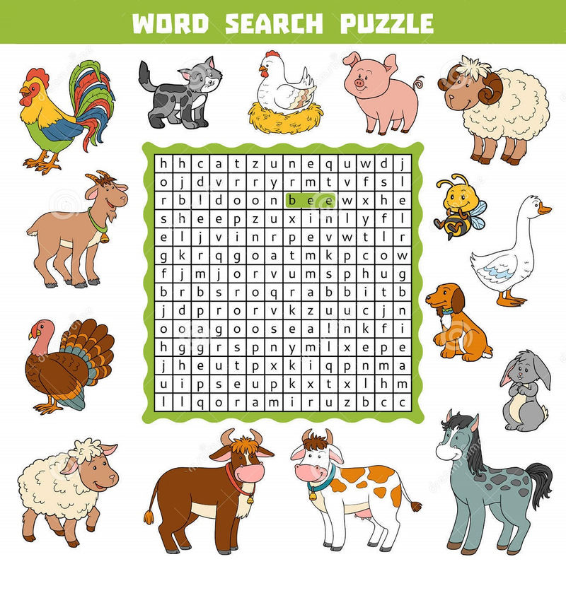 Animal Farm Word Search Pictures