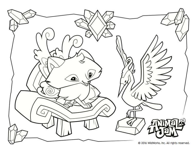 Animal Jam Coloring Page | FREE COLORING PAGES