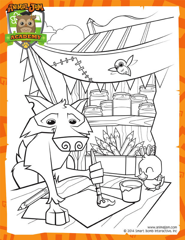 Animal Jam Painting Coloring Pages | FREE COLORING PAGES