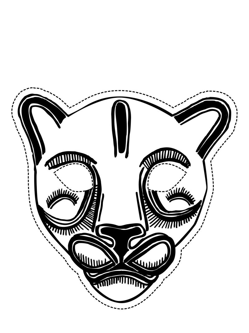 Animal Masks Coloring Pages
