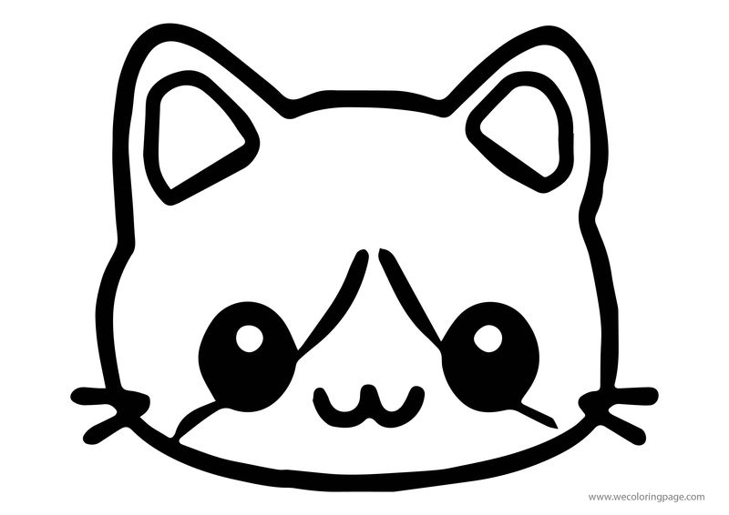 Animals Chibi Cat Coloring Page