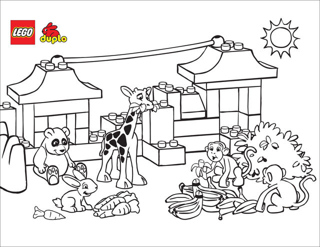 Animals Lego Coloring Pages 001