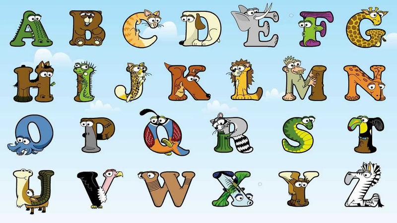 Animals Shaped Like Letters Free