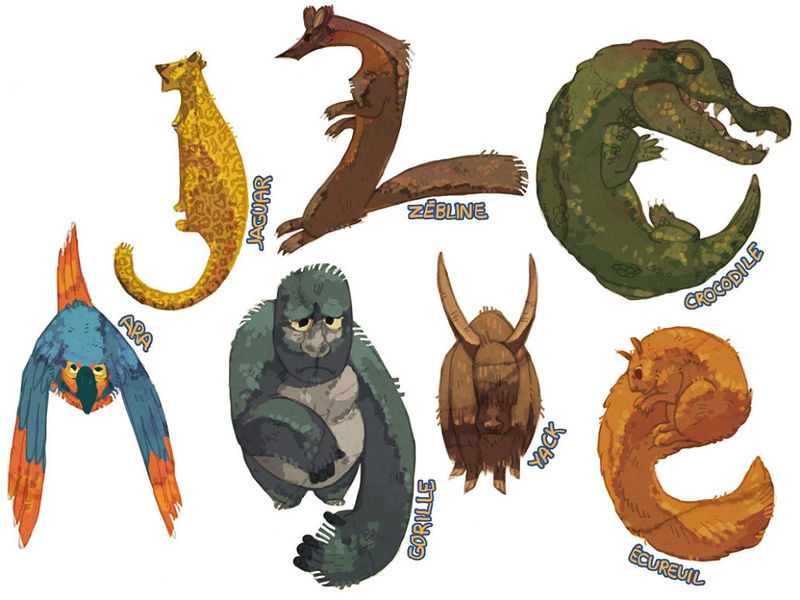 Animals Shaped Like Letters Kindergarten