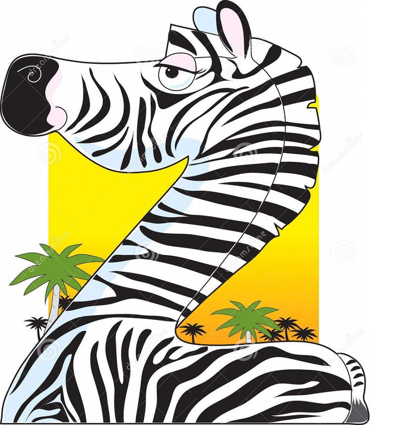 Animals Shaped Like Letters Zebra