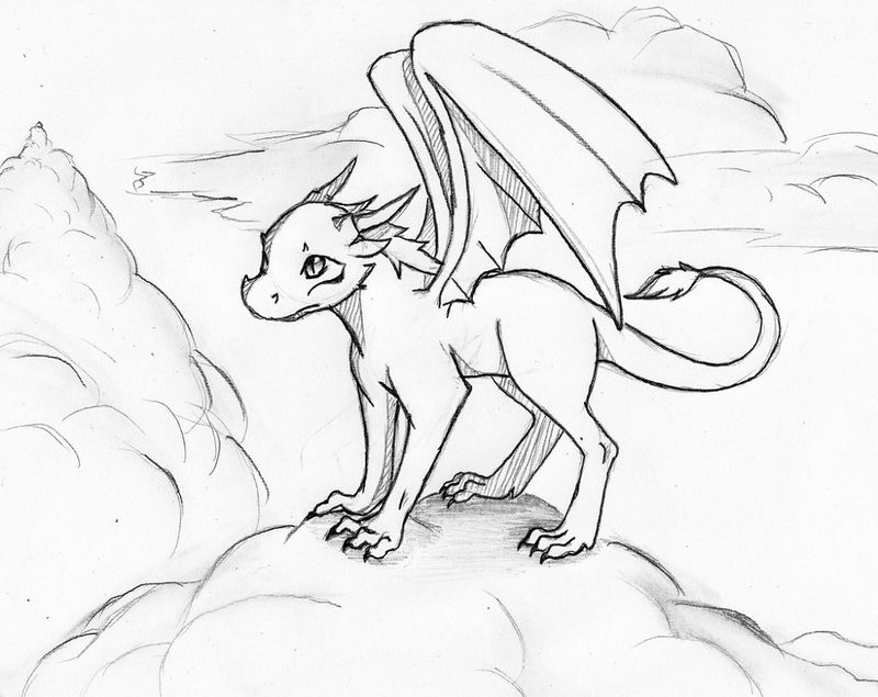 Animation Dragon Coloring Pages 001