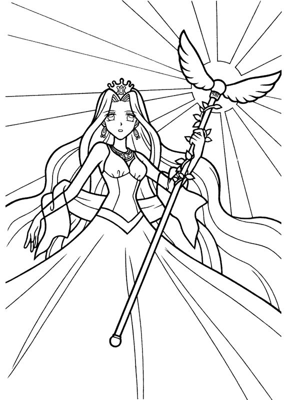 Anime Princess Coloring Pages 001