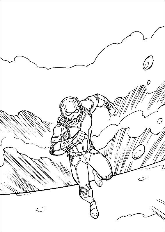 Ant Man Action Coloring Page