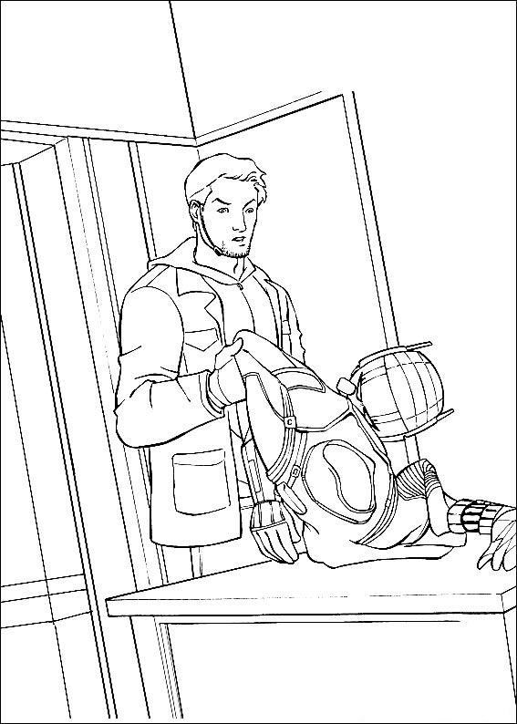 Ant Man Paul Rudd Coloring Page