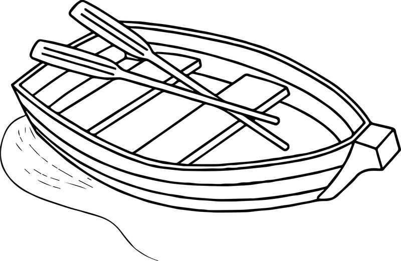 Any Boat Free Coloring Page