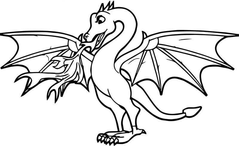 Any Fiery Dragon Coloring Page