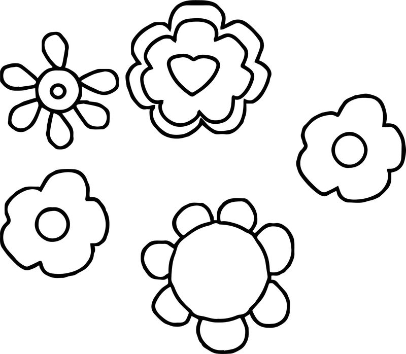 Any Love Valentine Flower Shape Coloring Page