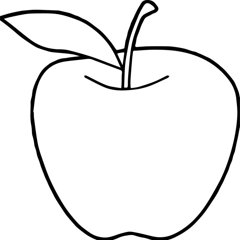 Apples For My Teacher Print And Coloring Page