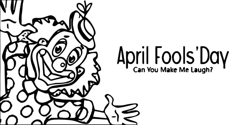 April Fool Day Coloring Page