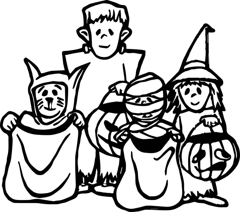 April Fool Halloween Coloring Page