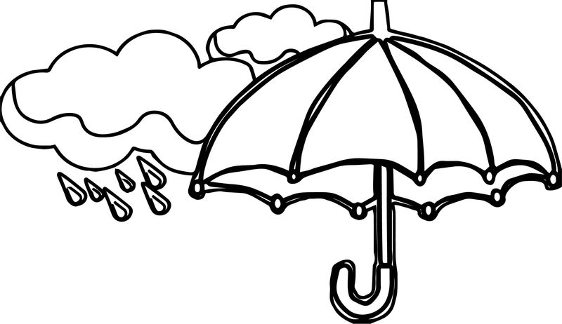 April Showers Bring May Flowers April Coloring Page