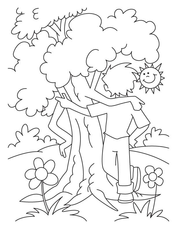 Arbor Day Tree Coloring Page