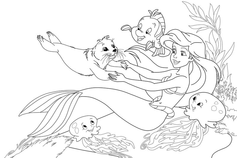 Ariel Coloring Pages Little Mermaid