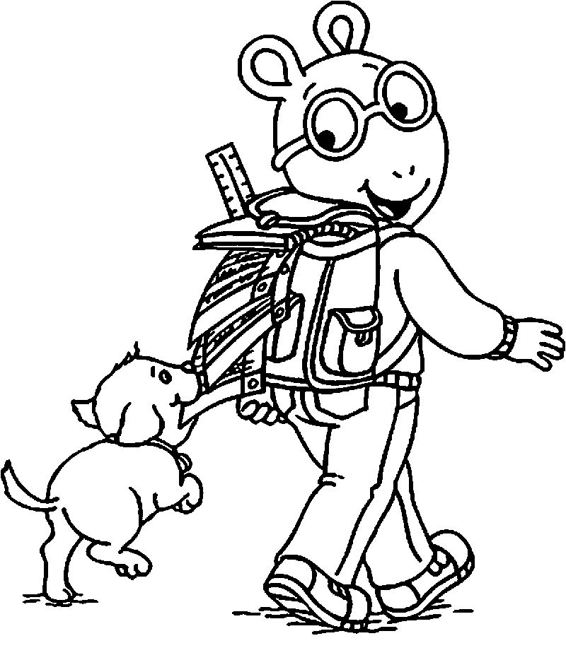 Arthur And Pal Dog Tv Coloring Page