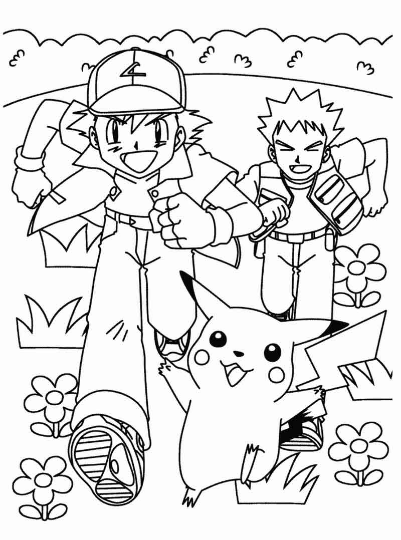 Ash And Brock Pokemon Coloring Pages