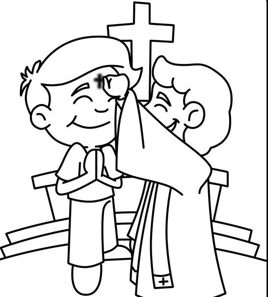 Ash Wednesday Coloring Pages Printable