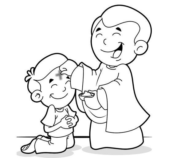 Ash Wednesday Coloring Pages 1
