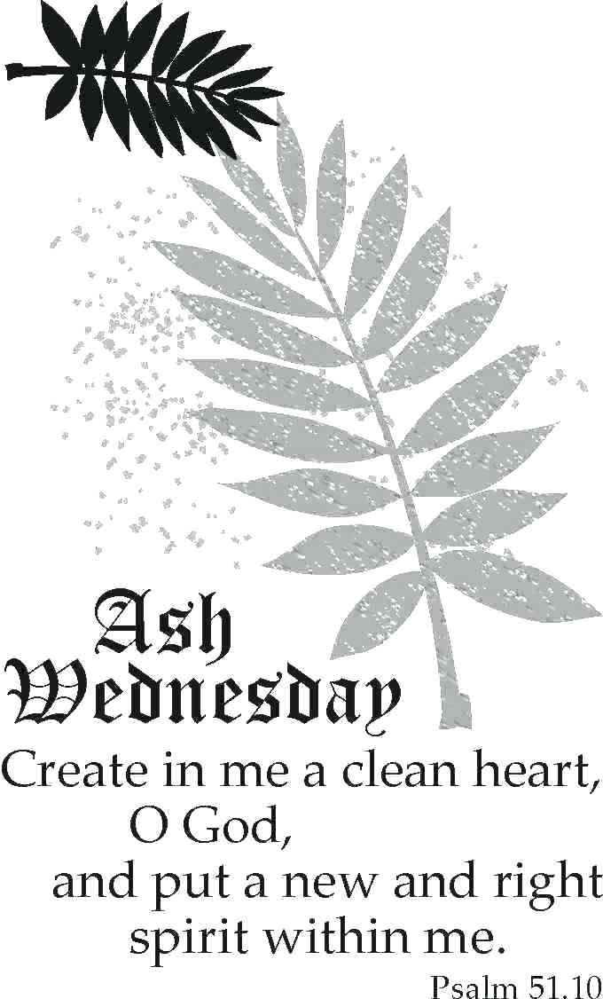 Ash wednesday psalm printout