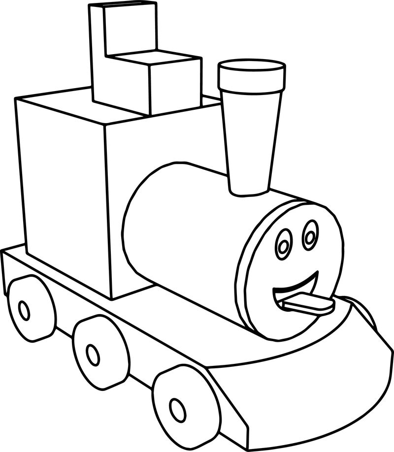 Assembly Of A Toy Train Coloring Page