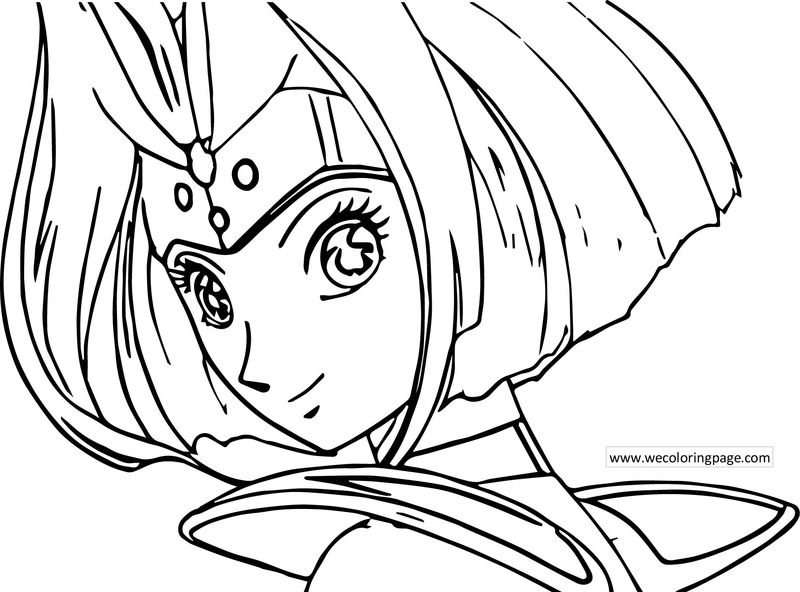 Astro Boy Princess Girl Coloring Page