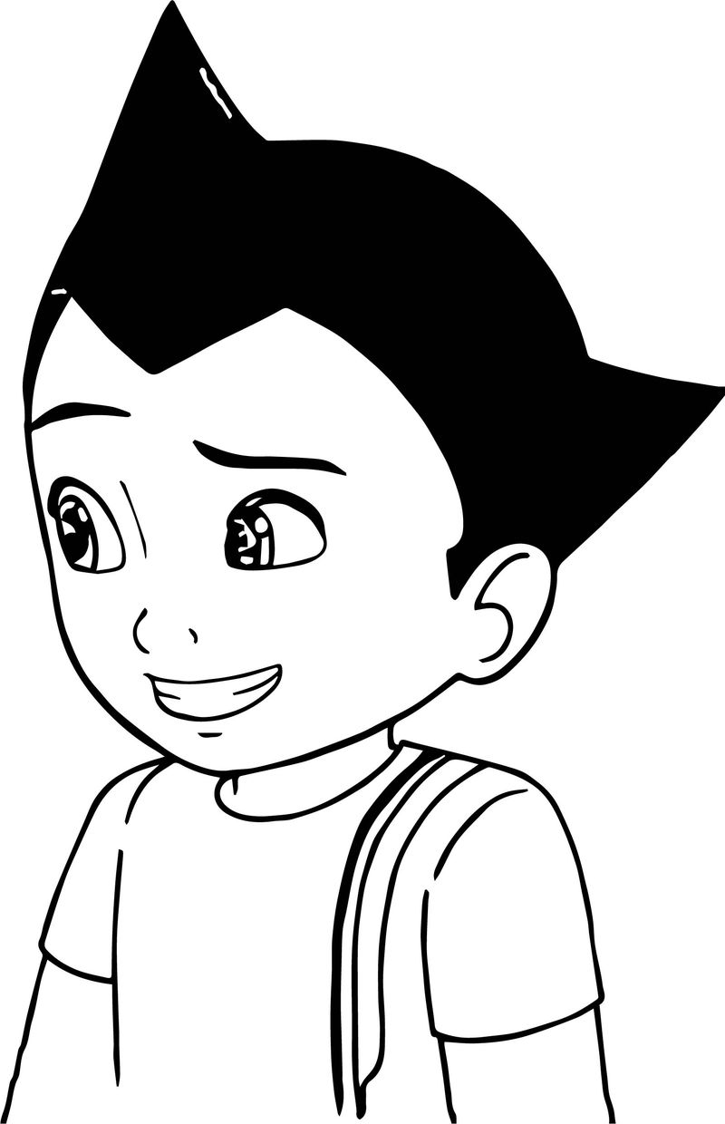 Astro Boy Student Coloring Page