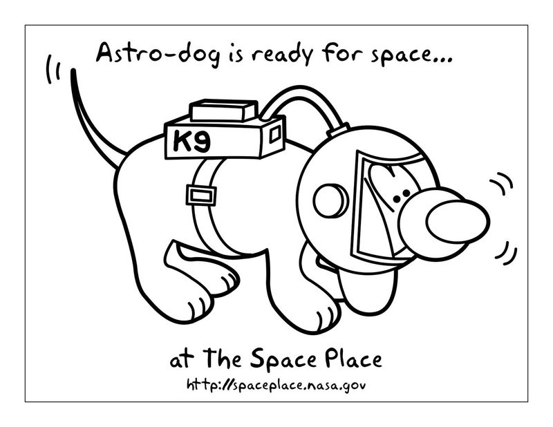 Astrodog Coloring Page