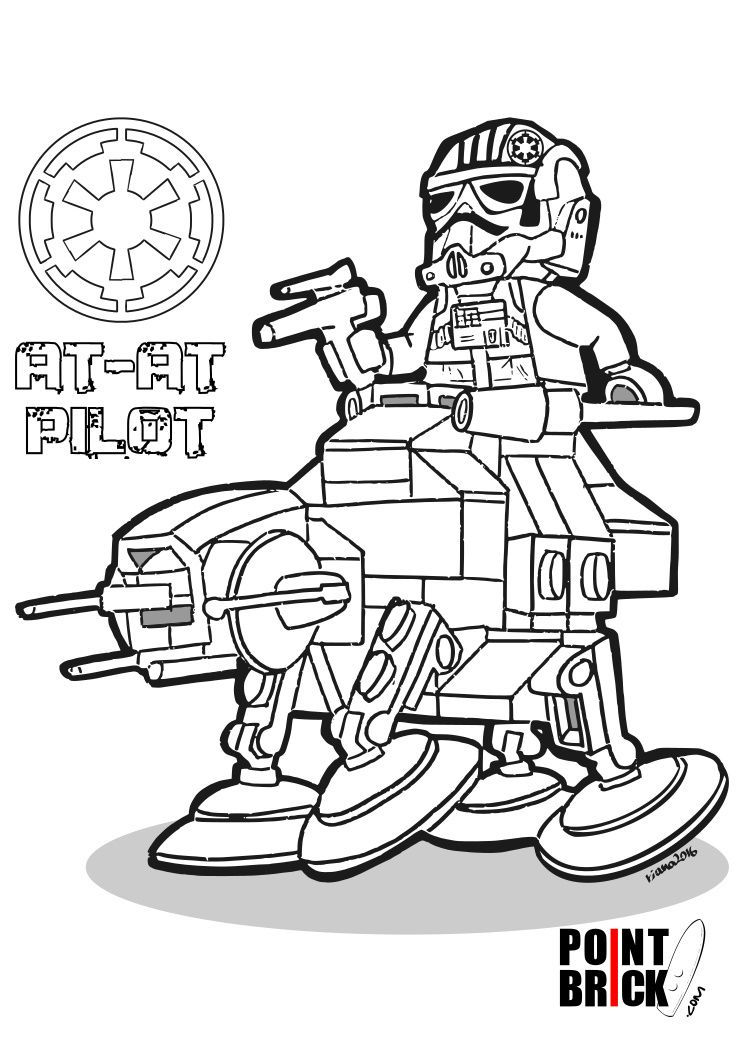 At At Lego Star Wars Coloring Pages