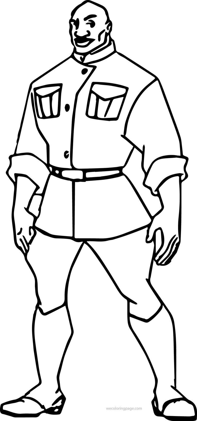 Atlantis The Lost Empire Dr Sweet Soldier Coloring Page