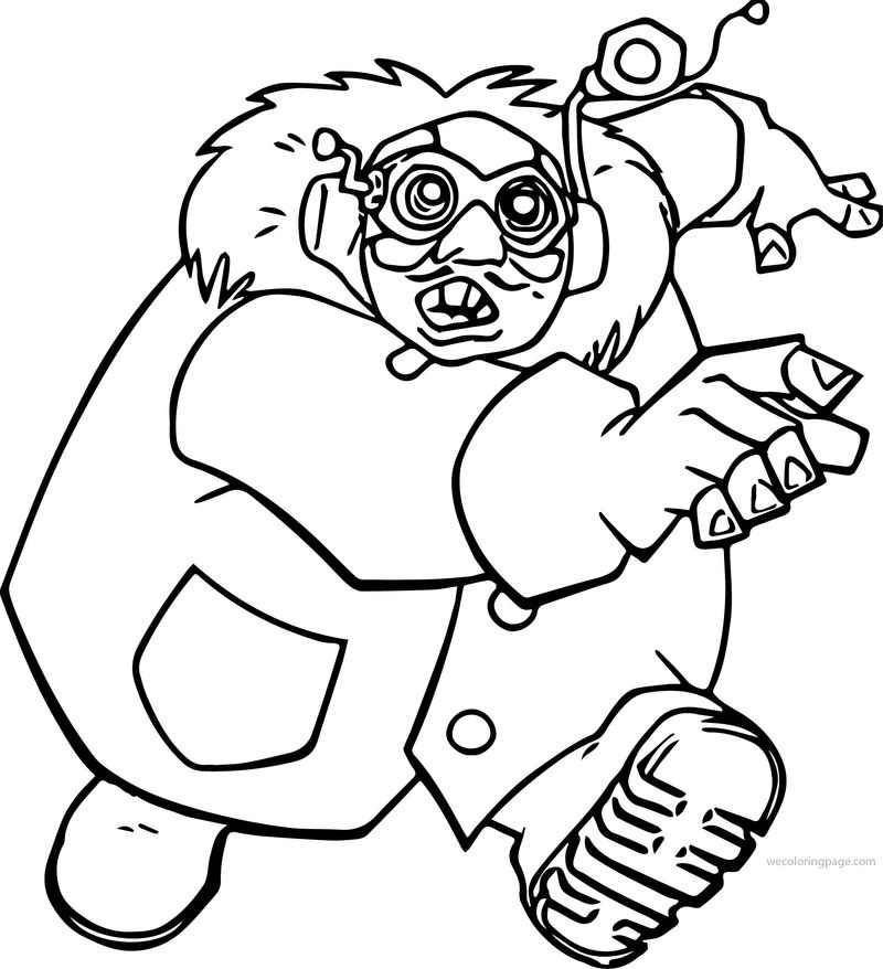 Atlantis The Lost Empire Gaeton Moliere Running Coloring Page