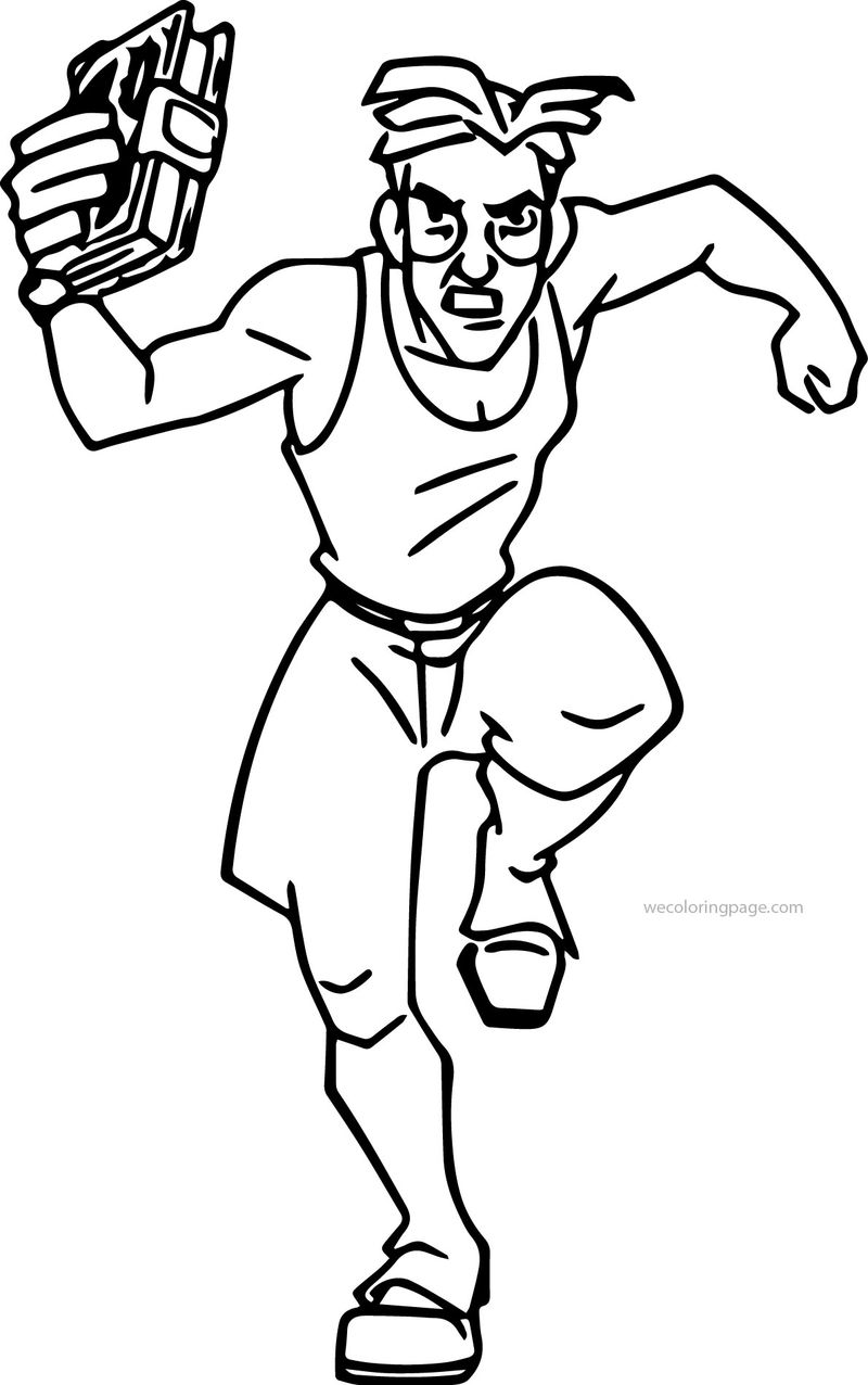 Atlantis The Lost Empire Milo James Thatch Running Coloring Page