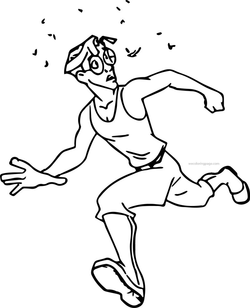 Atlantis The Lost Empire Milo Running Bugs Coloring Page