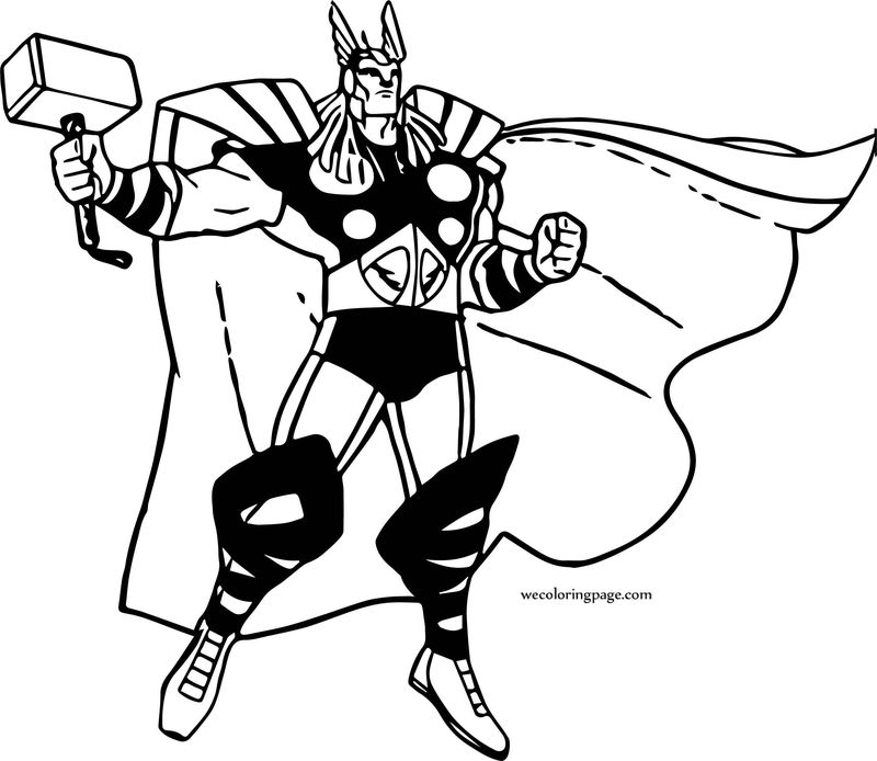 Avengers Coloring Page 04