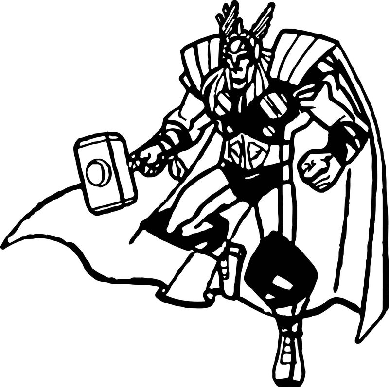Avengers Coloring Page 05