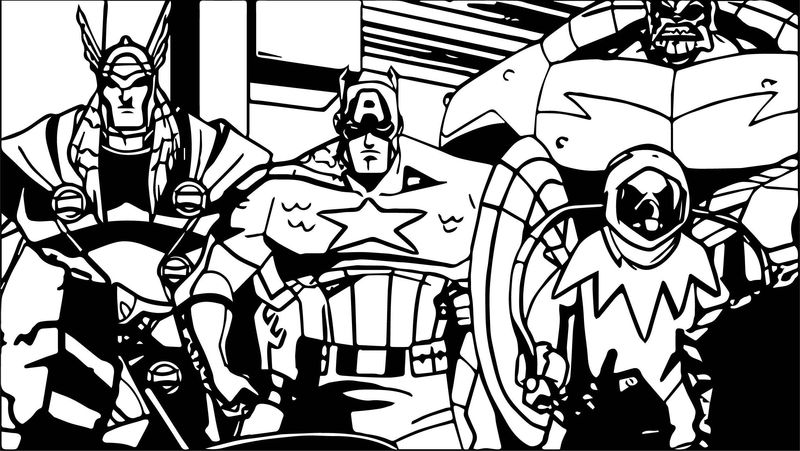 Avengers coloring page 09