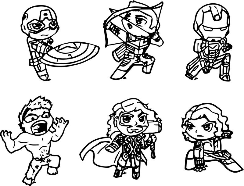 Avengers Coloring Page 10