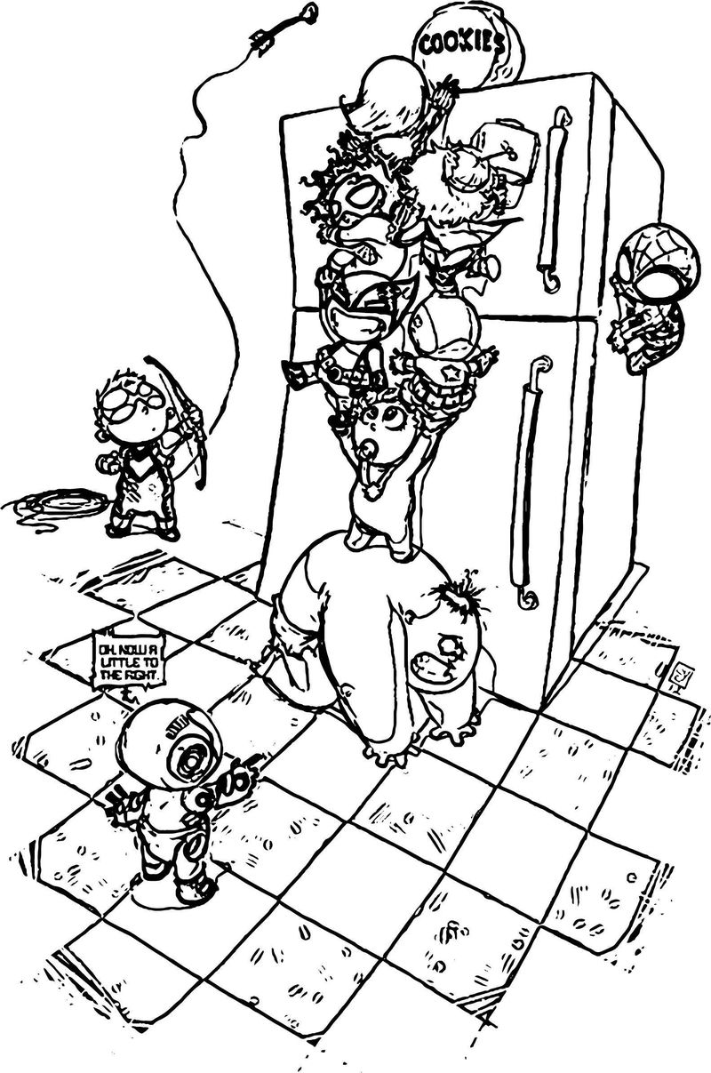 Avengers Coloring Page 12