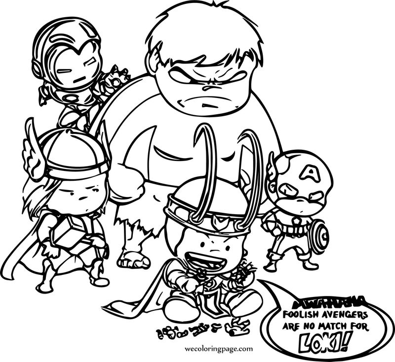 Avengers Coloring Page 17