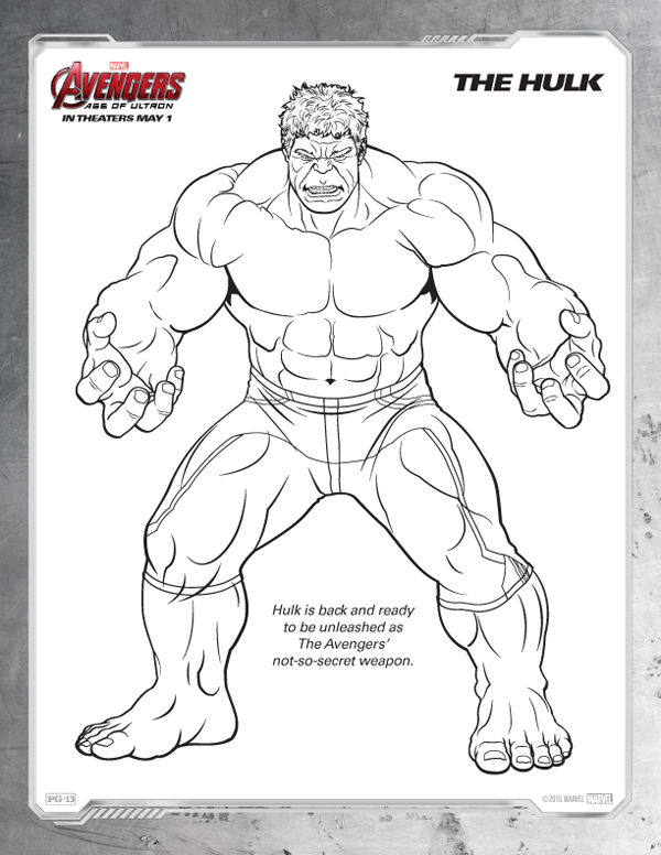 Avengers Coloring Pages Free Hulk