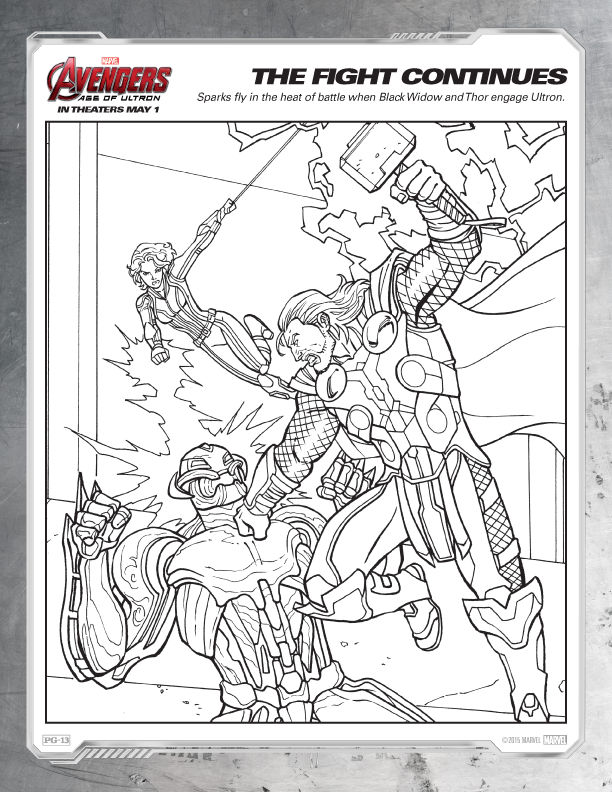 Avengers Coloring Pages Free Printables