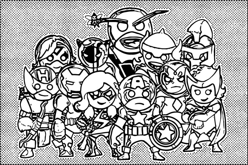 Avengers Popart Coloring Page