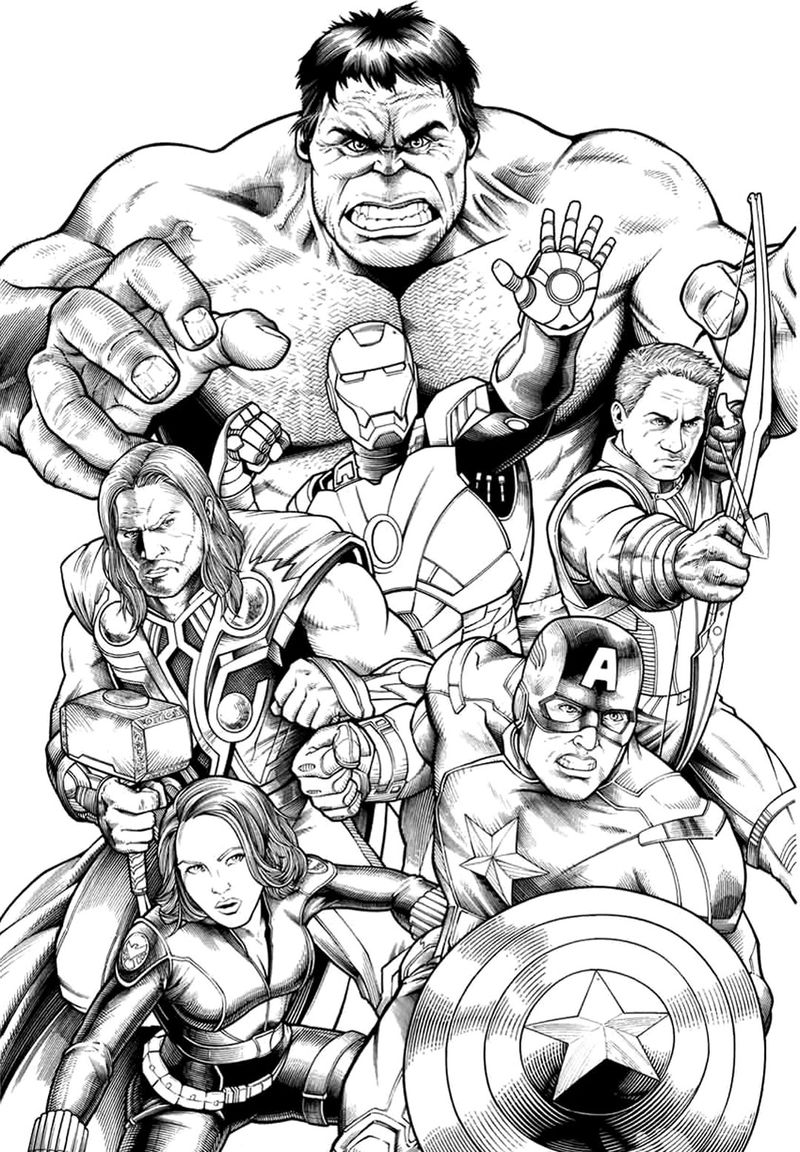 Avengers Superhero Coloring Pages