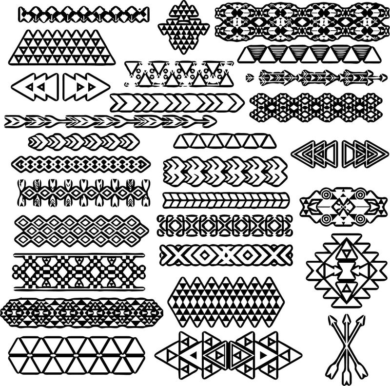 Aztec Lace Shape Coloring Page