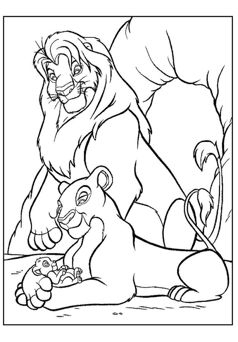 Baby Lion King Coloring Page