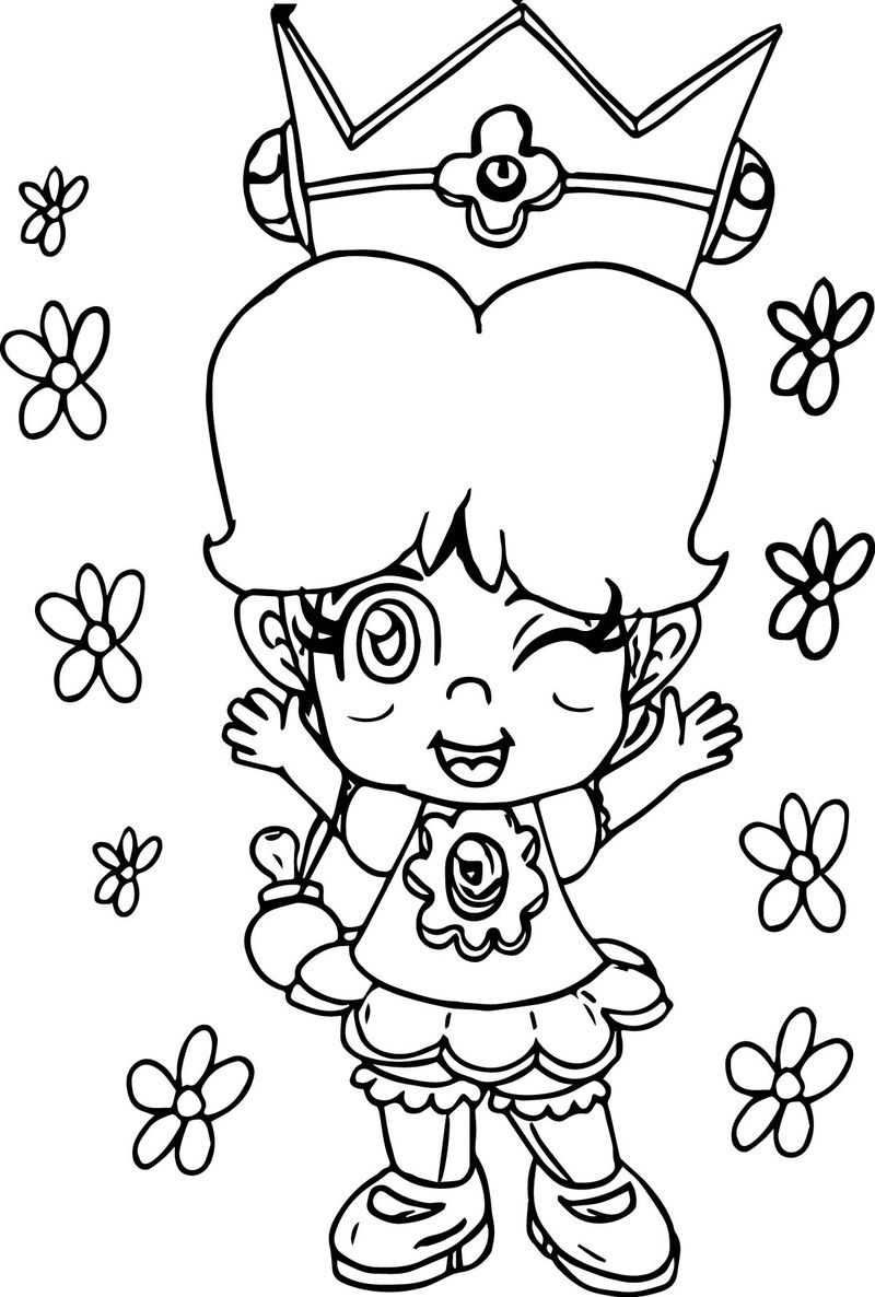 Baby Daisy Flower Coloring Page