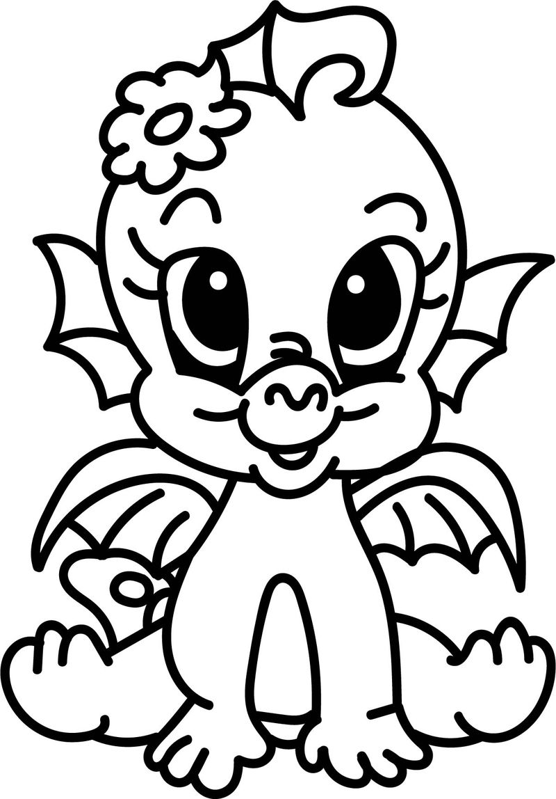 Baby Dragon Coloring Page